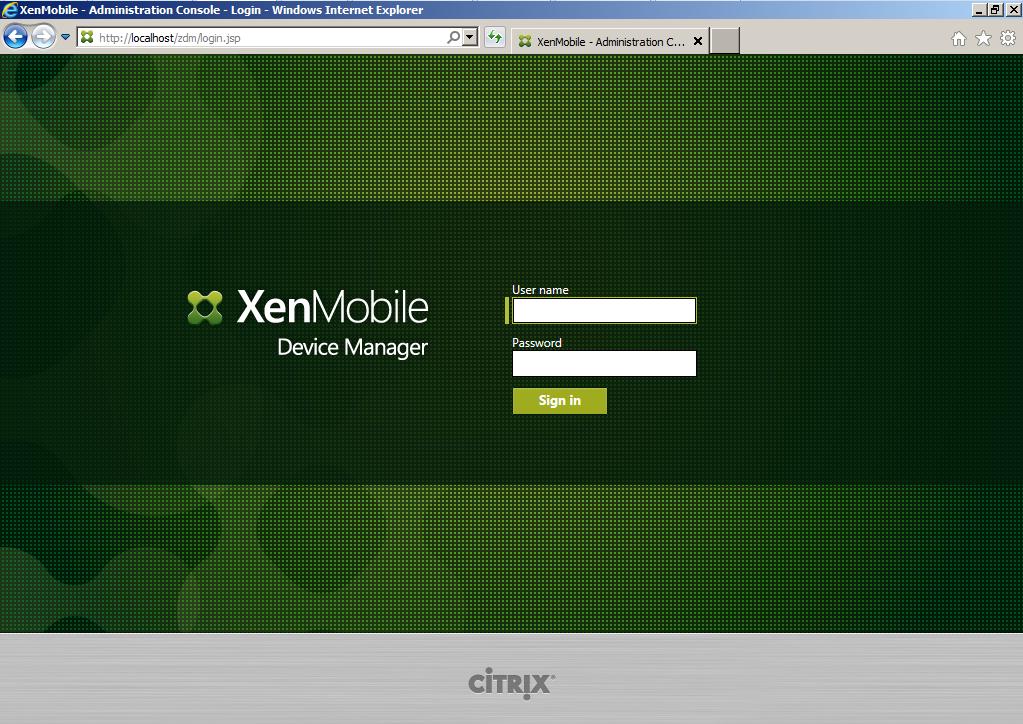 Citrix MDM 50