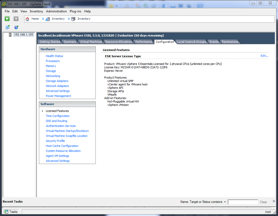 VMware ESXi essentials