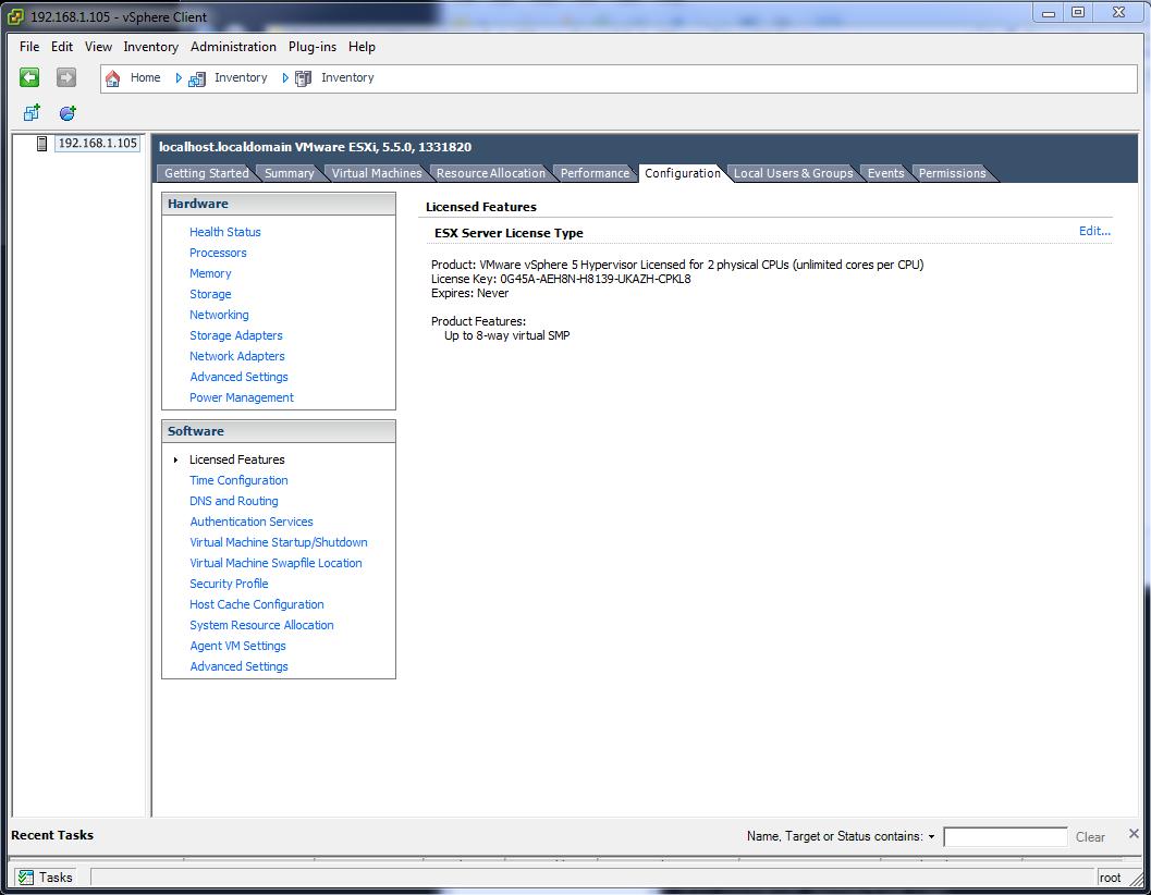 VMware ESXi free license