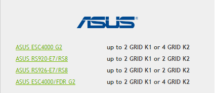 Asus for Nvidia GRID