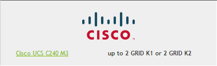 Cisco for Nvidia GRID
