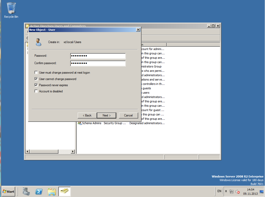 Citrix XenDesktop 7 Active Directory 020