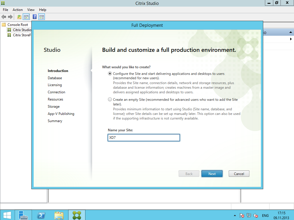 Citrix XenDesktop 7 Installation DC 003