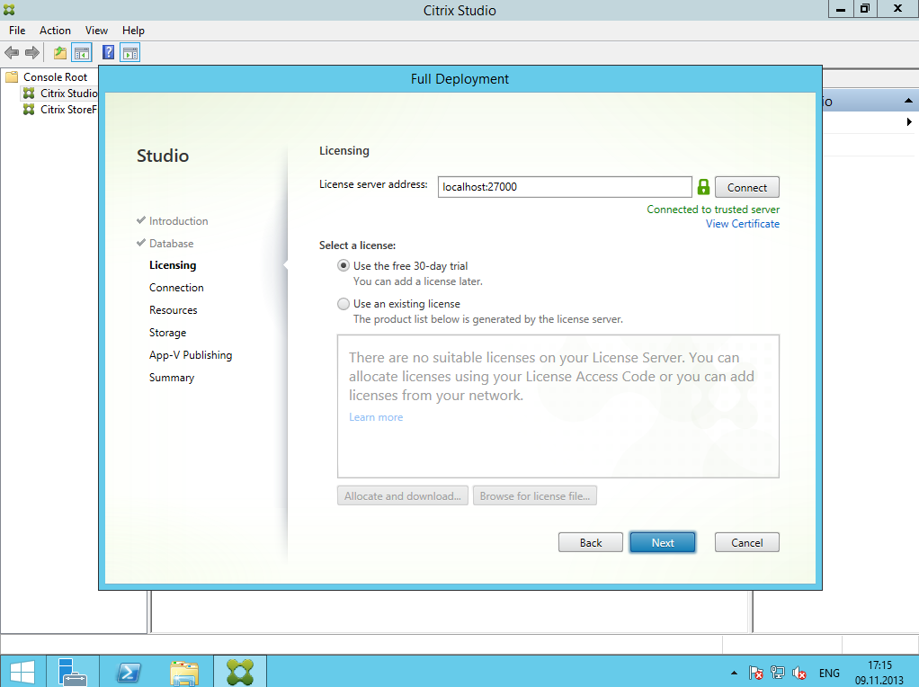Citrix XenDesktop 7 Installation DC 006
