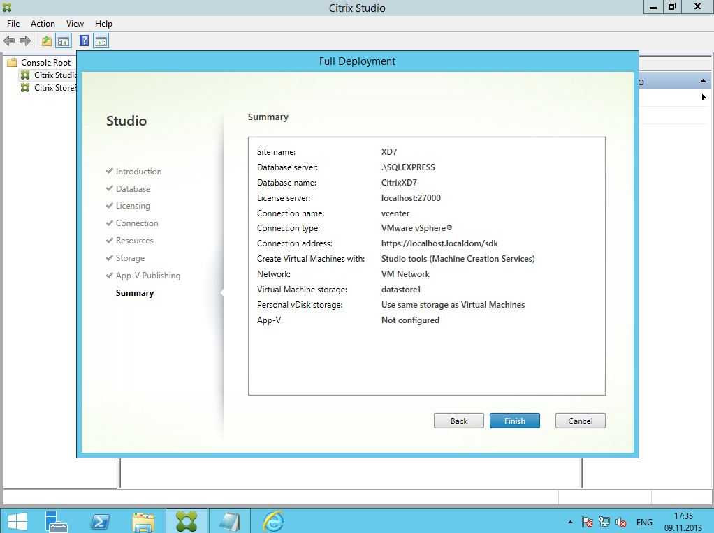 Citrix XenDesktop 7 Installation DC 027