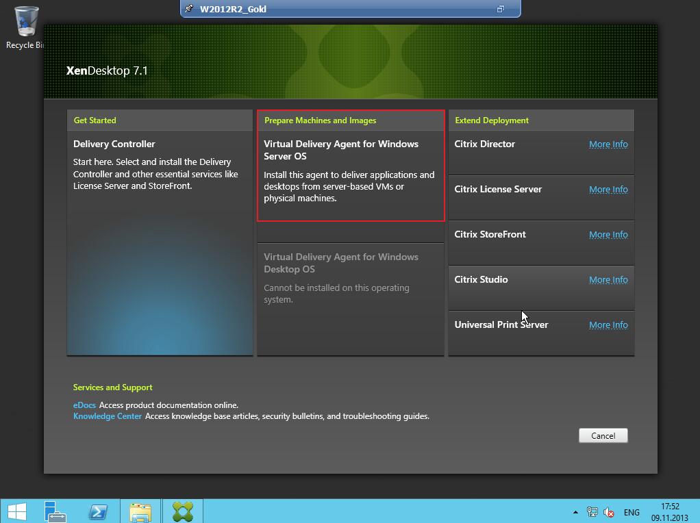 Citrix XenDesktop 7 VDA agent 006