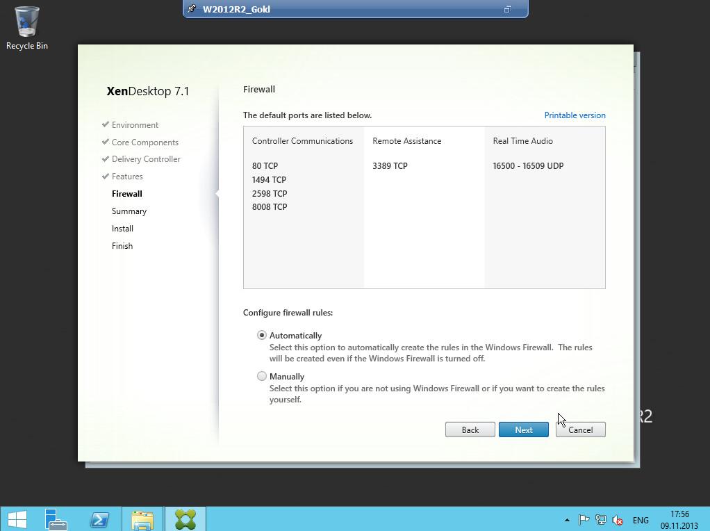 Citrix XenDesktop 7 VDA agent 012