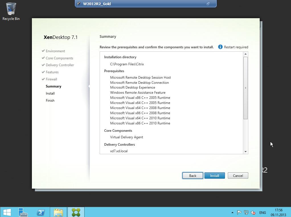 Citrix XenDesktop 7 VDA agent 013