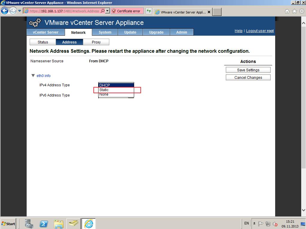 Citrix XenDesktop 7 vCenter server 5-5 007