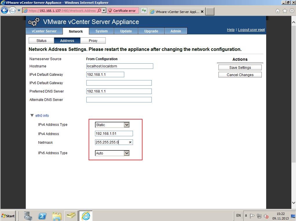 Citrix XenDesktop 7 vCenter server 5-5 008