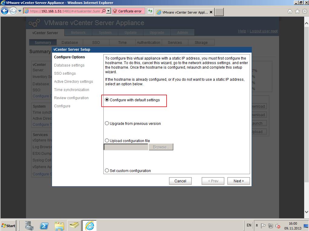 Citrix XenDesktop 7 vCenter server 5-5 009