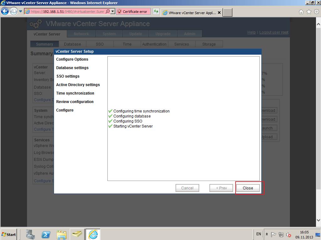 Citrix XenDesktop 7 vCenter server 5-5 011
