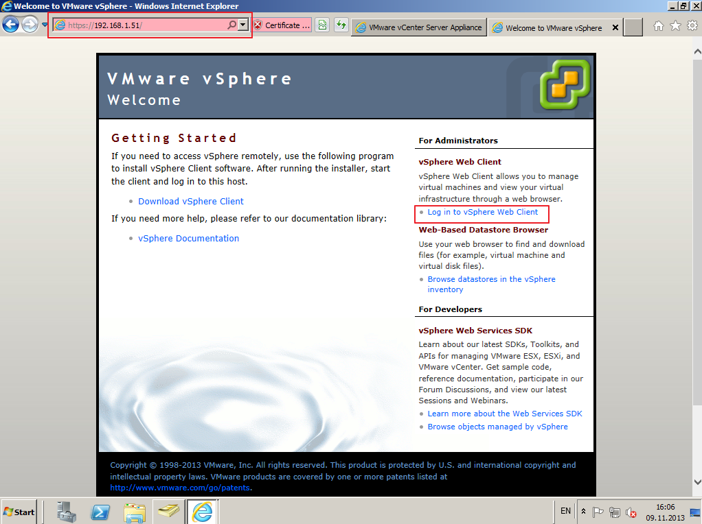 Citrix XenDesktop 7 vCenter server 5-5 013