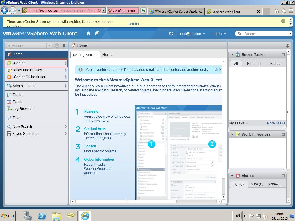 Citrix XenDesktop 7 vCenter server 5-5 014