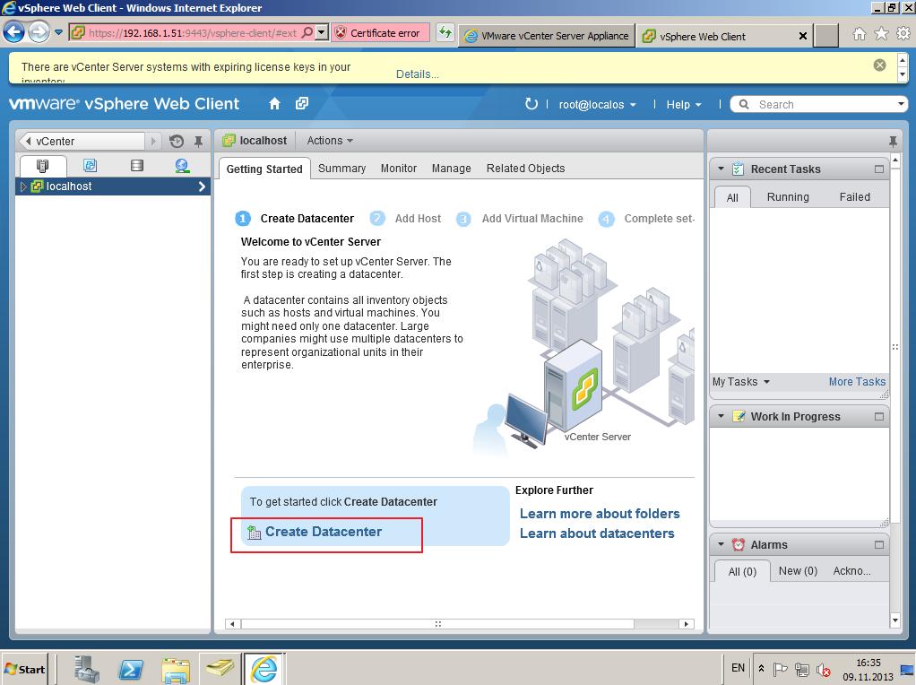 Citrix XenDesktop 7 vCenter server 5-5 016