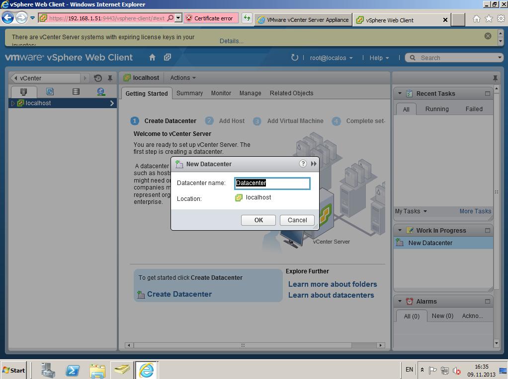 Citrix XenDesktop 7 vCenter server 5-5 017