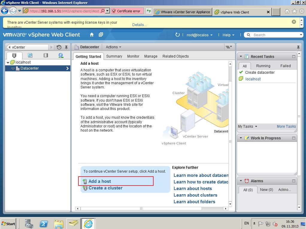 Citrix XenDesktop 7 vCenter server 5-5 018