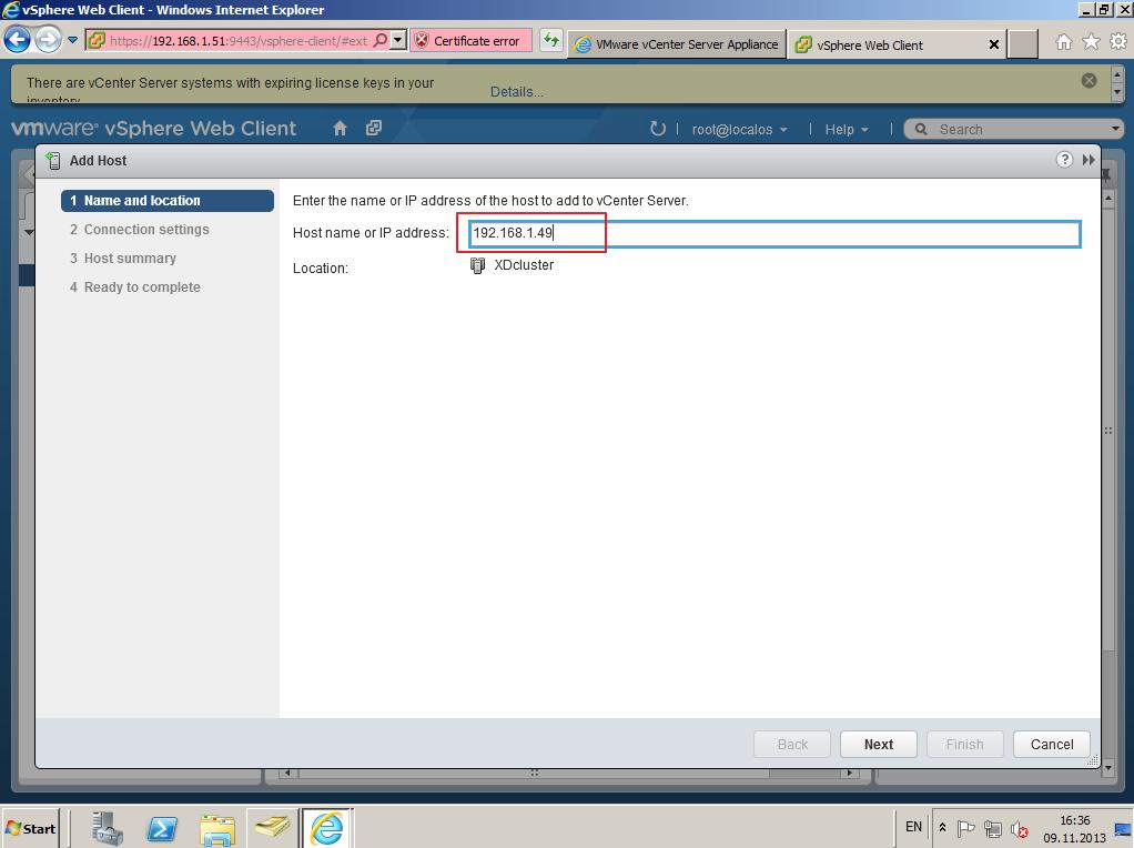 Citrix XenDesktop 7 vCenter server 5-5 021