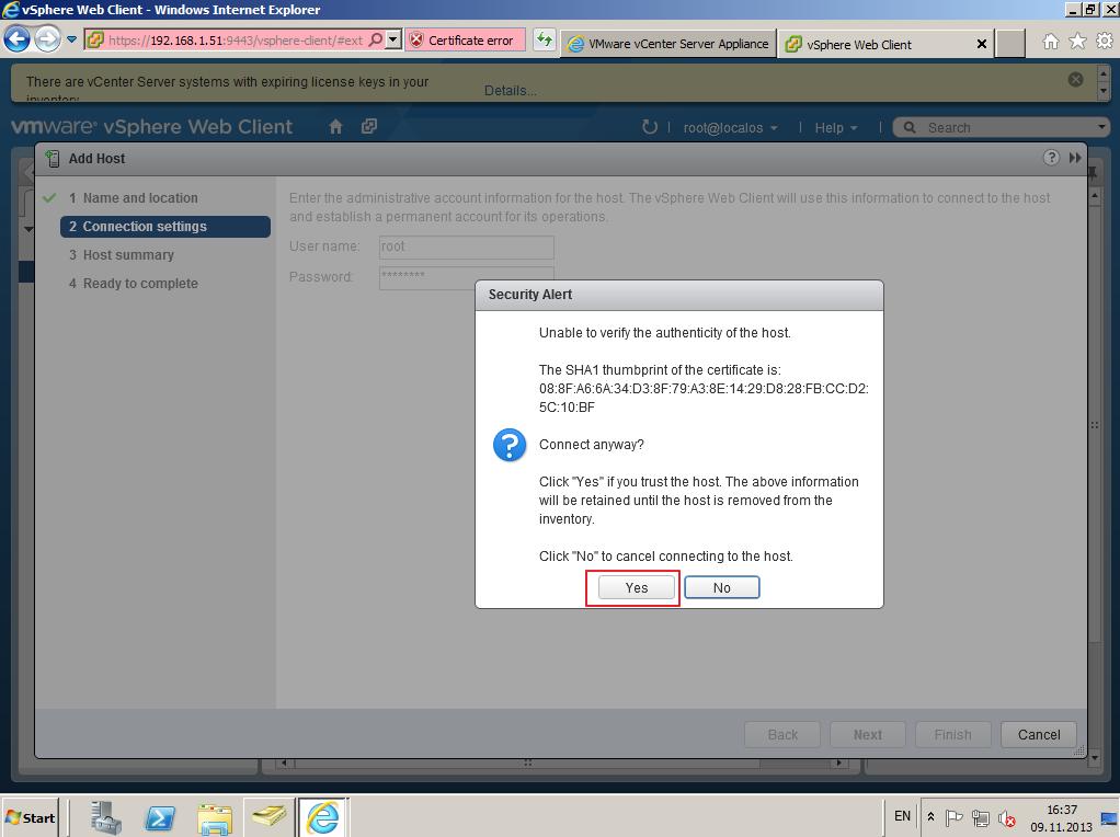 Citrix XenDesktop 7 vCenter server 5-5 023