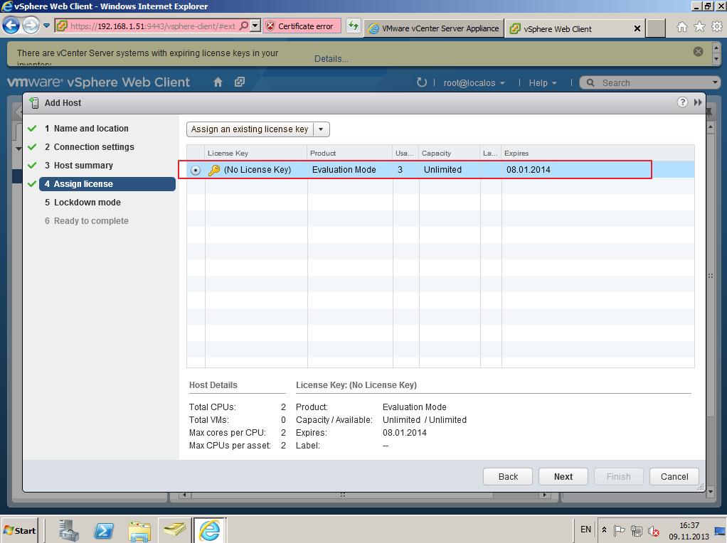 Citrix XenDesktop 7 vCenter server 5-5 025