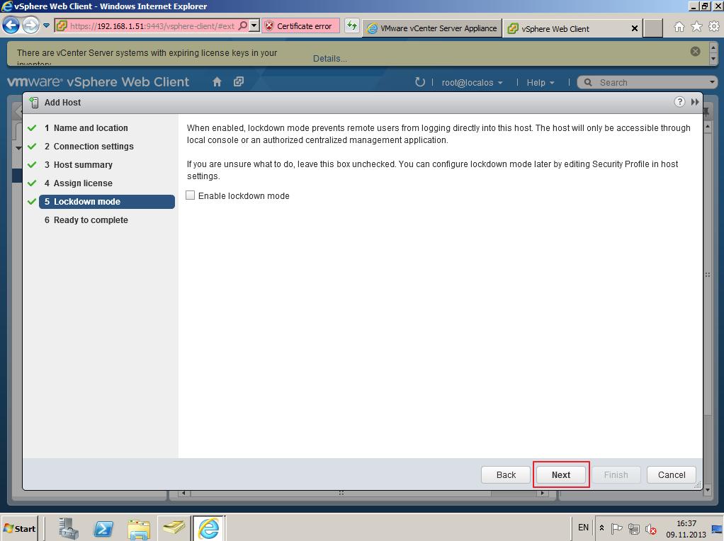 Citrix XenDesktop 7 vCenter server 5-5 026