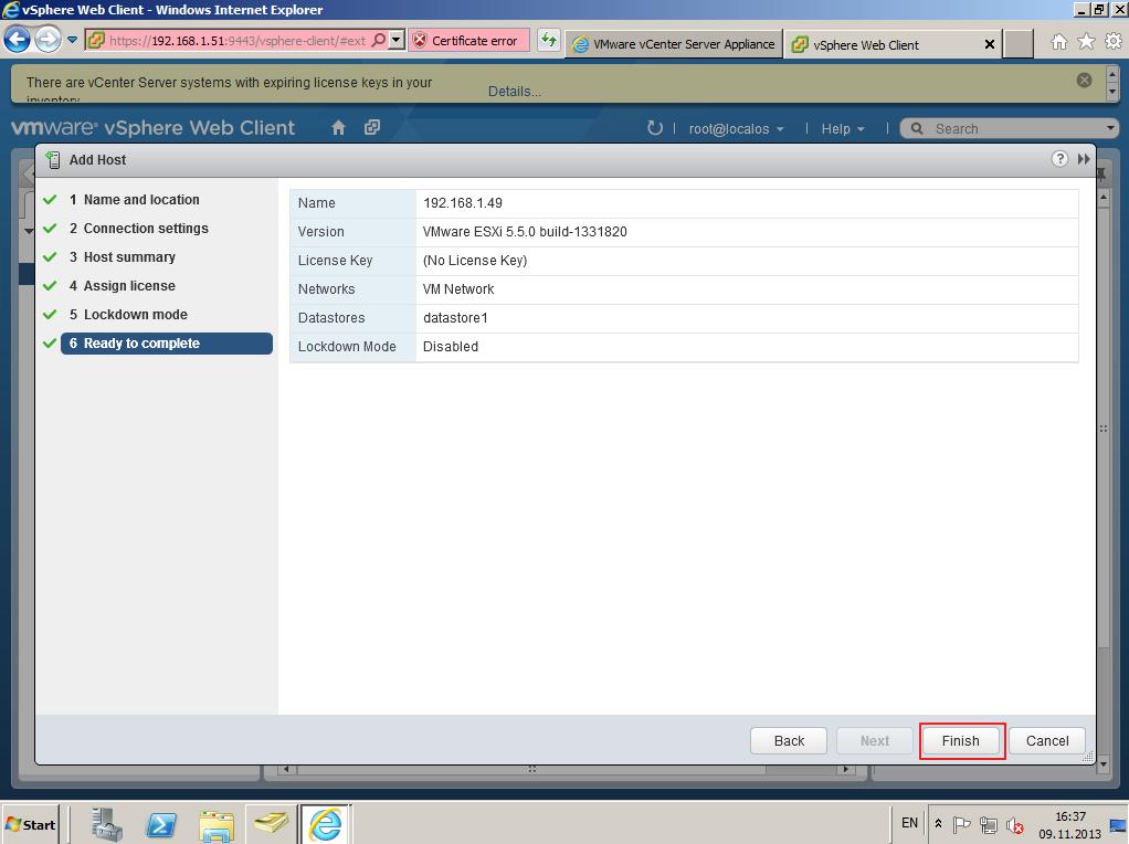 Citrix XenDesktop 7 vCenter server 5-5 027