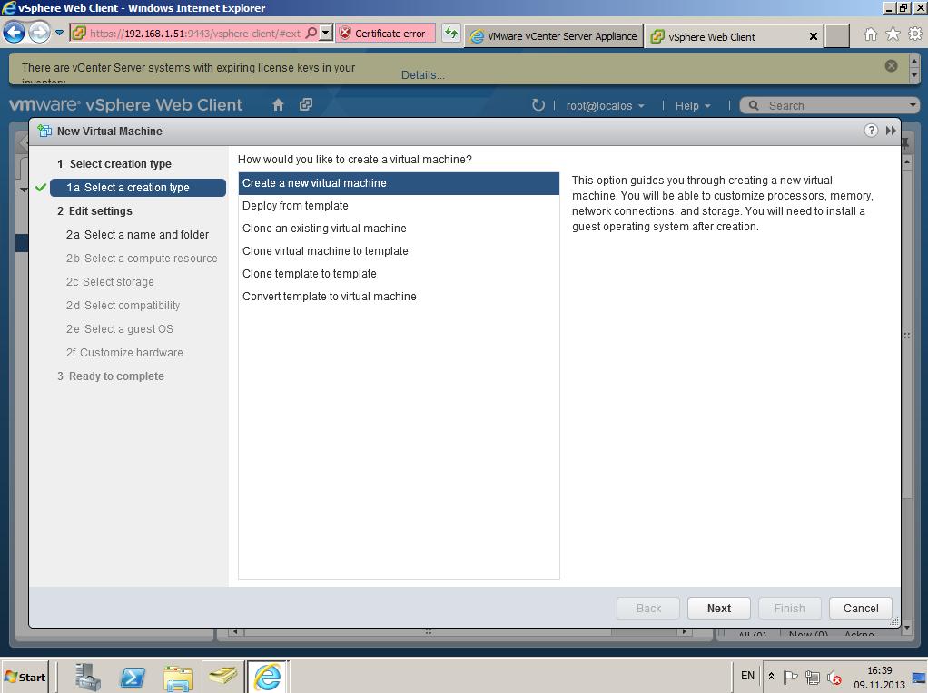 Citrix XenDesktop 7 vCenter server 5-5 030