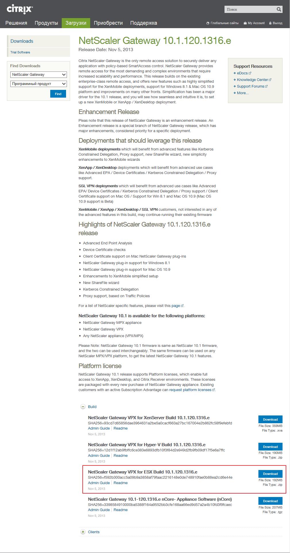 Netscaler Access Gateway -