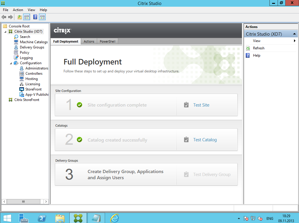 Citrix XenDesktop 7 Delivery Group 01