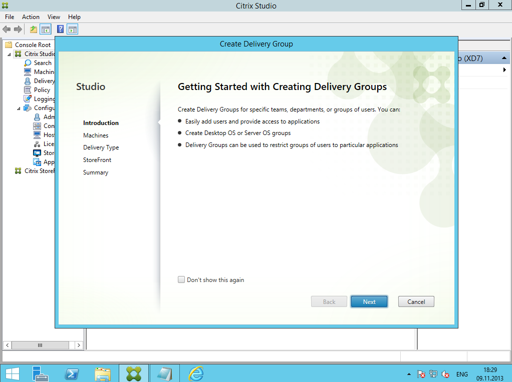 Citrix XenDesktop 7 Delivery Group 02