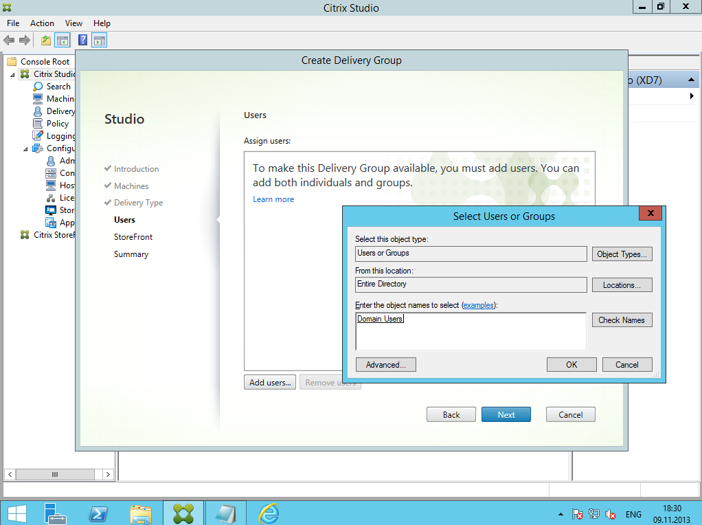 Citrix XenDesktop 7 Delivery Group 05