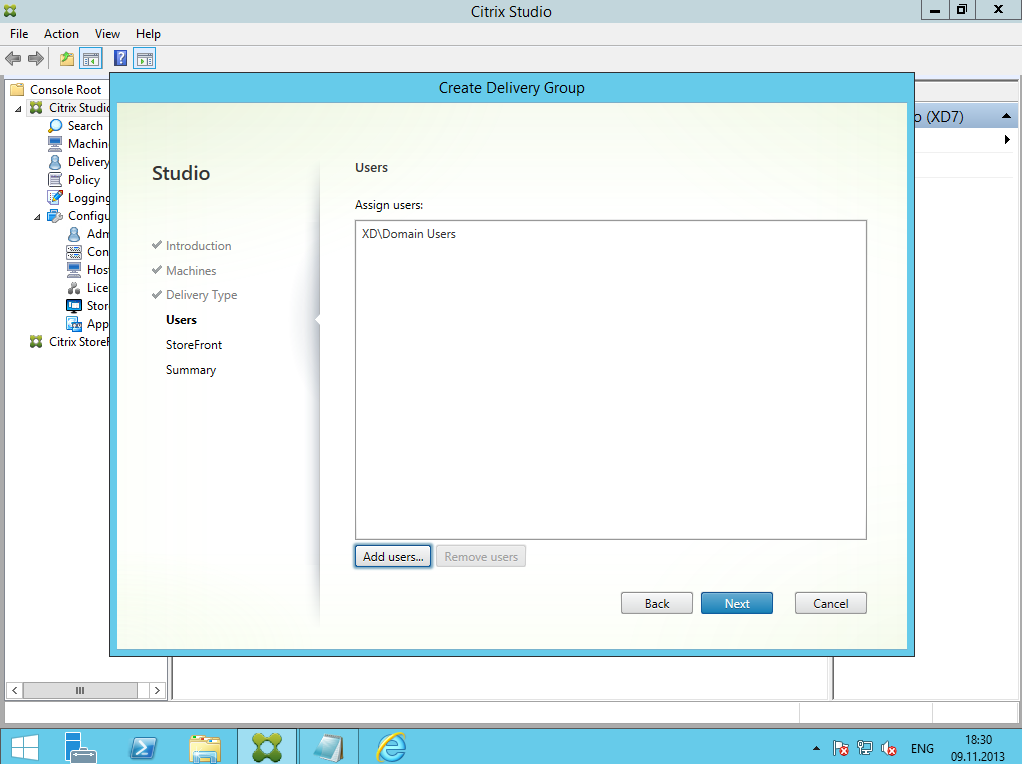 Citrix XenDesktop 7 Delivery Group 06