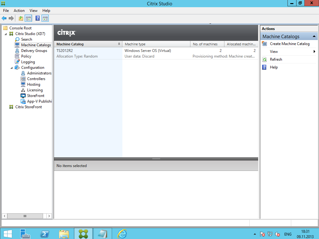 Citrix XenDesktop 7 Delivery Group 10
