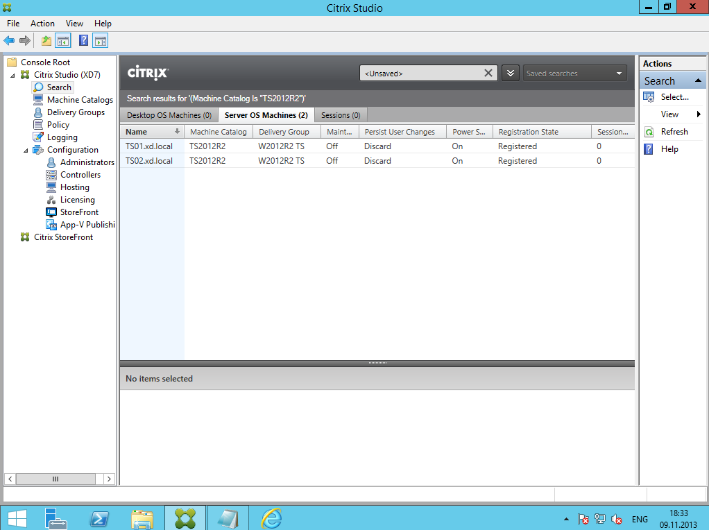 Citrix XenDesktop 7 Delivery Group 12
