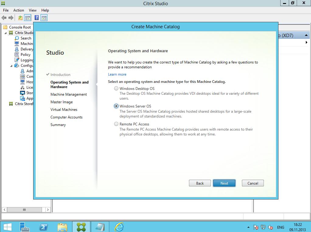 Citrix XenDesktop 7 Machine Catalog 03