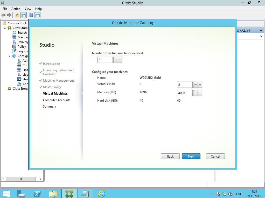 Citrix XenDesktop 7 Machine Catalog 06