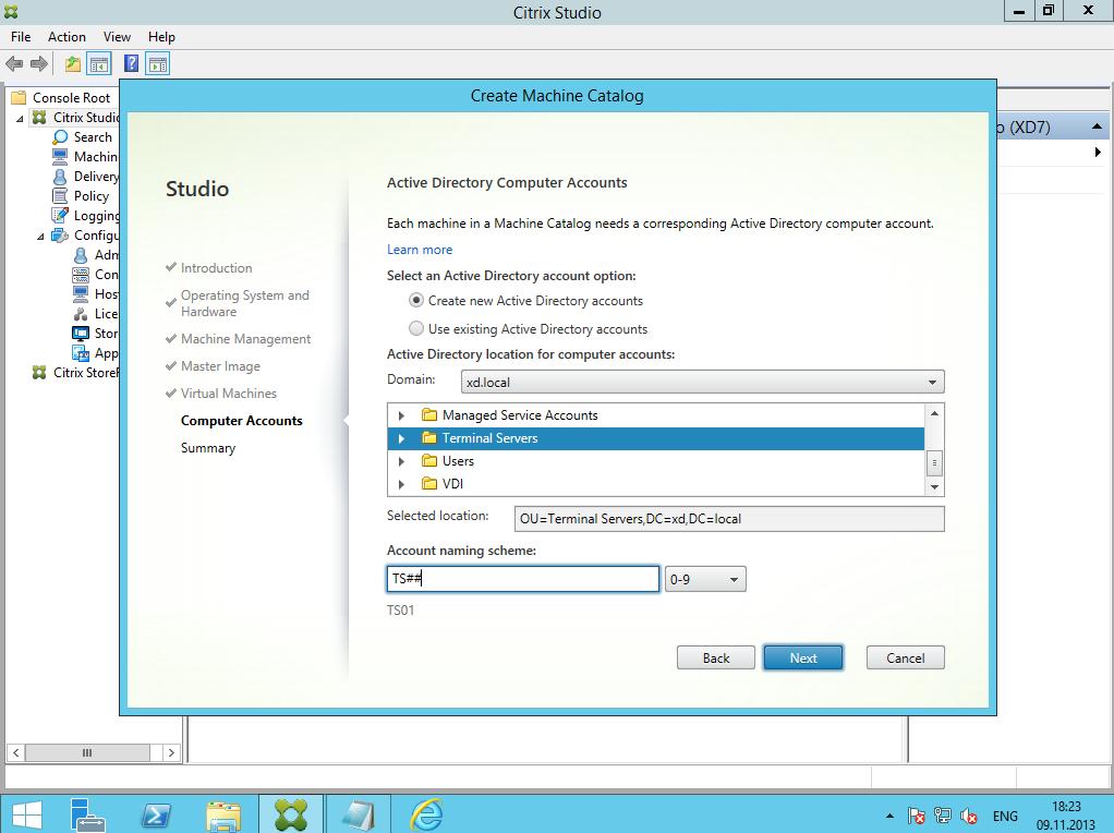Citrix XenDesktop 7 Machine Catalog 07