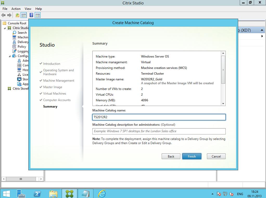 Citrix XenDesktop 7 Machine Catalog 08