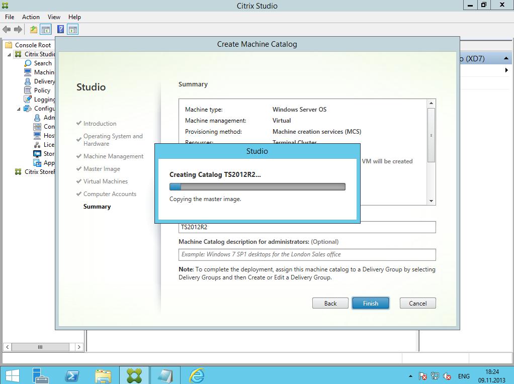 Citrix XenDesktop 7 Machine Catalog 09