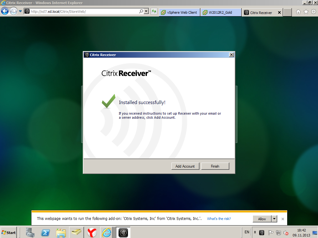 Citrix XenDesktop 7 Receiver 05